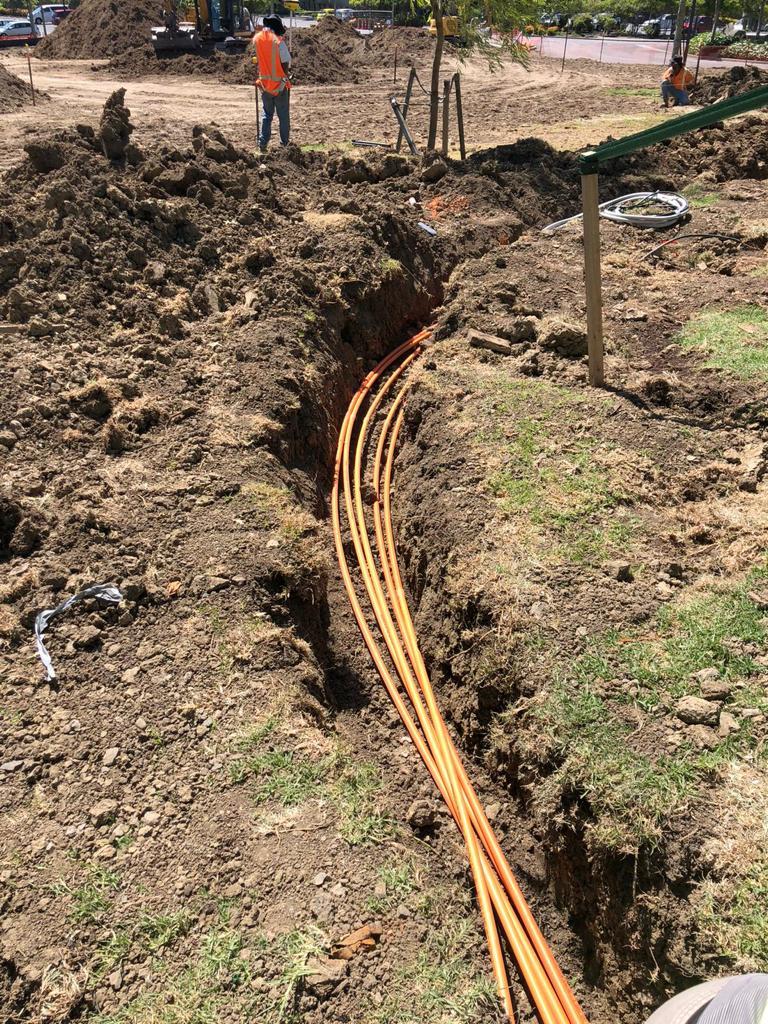 Outdoor underground wiring