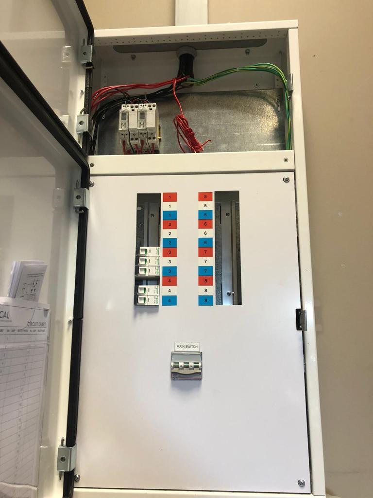 circuit breaker panel in an industrial setting