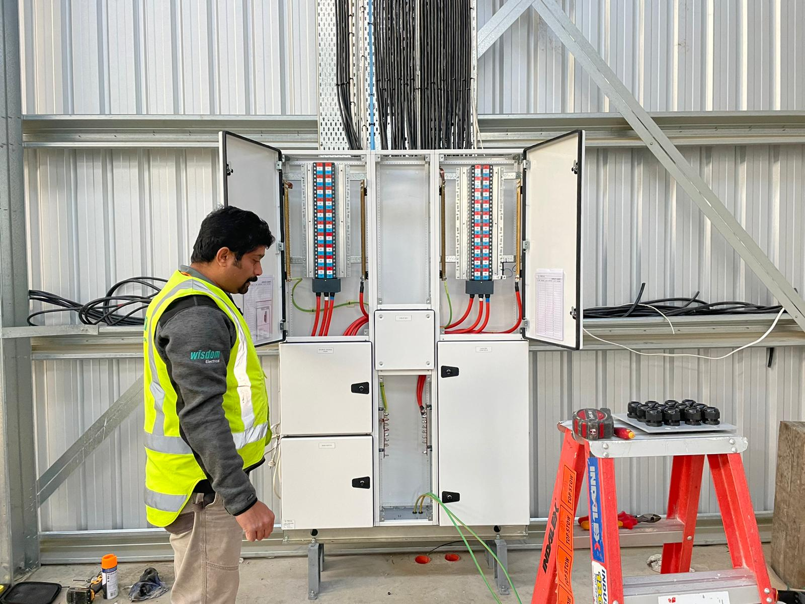 Industrial electric work